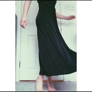 Western Connection Skirts - Button Down Black Skirt